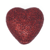"Foam Solid Heart OASIS Floral Picks - 2 1/8"" Dark Red - 6/Pack"