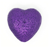 "Foam Solid Heart OASIS Floral Picks - 2 1/8"" Purple - 6/Pack"