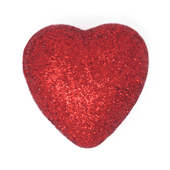 "Foam Solid Heart OASIS Floral Picks - 2 1/8"" Red - 6/Pack"
