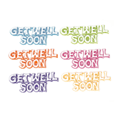 "Get Well OASIS Floral Picks - 4 1/2"" Get Well Soon - 12/Pack"