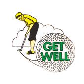 """Get Well OASIS Floral Picks - 4"""" Golfer - 12/Pack"""