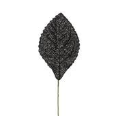 OASIS Glitter Corsage Leaf - Glitter Black - 50/Pack