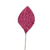OASIS Glitter Corsage Leaf - Glitter Fuchsia - 50/Pack