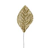 OASIS Glitter Corsage Leaf - Glitter Gold - 50/Pack