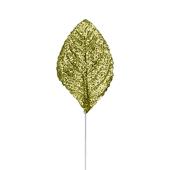OASIS Glitter Corsage Leaf - Glitter Green - 50/Pack