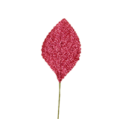OASIS Glitter Corsage Leaf - Glitter Red - 50/Pack