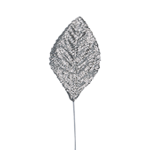OASIS Glitter Corsage Leaf - Glitter Silver - 50/Pack