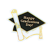 Graduation OASIS Floral Picks - Happy Graduation - 12/Pack