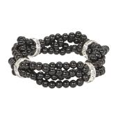 OASIS Handy Pearl Cinch Wristlets - Black - 1/Pack