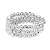 OASIS Handy Pearl Wristlets Narrow - Silver - 1/Pack