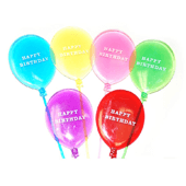 Happy Birthday Balloon OASIS Floral Picks and Cardholder - 3