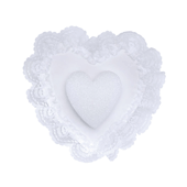 "OASIS Heart-Shaped Pillows - 10 1/2"" Extruded Polystyrene - 1/Pack"