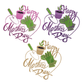 "Mother's Day OASIS Floral Picks - 3 1/2"" Mother's Day Gardener Assortment - 12/Pack"