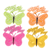 "Mother's Day OASIS Floral Picks - 3"" Mother's Day Butterfly Assortment - 12/Pack"