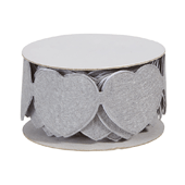 OASIS Felt Wrap with Adhesive Back - Gray Heart - 1/Pack