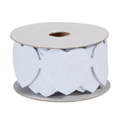 OASIS Felt Wrap with Adhesive Back - White Heart - 1/Pack