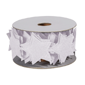 OASIS Felt Wrap with Adhesive Back - White Star - 1/Pack