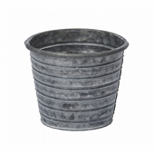 "OASIS Tin Pots - GALVANIZED - 4-1/2"" - 12 Case"