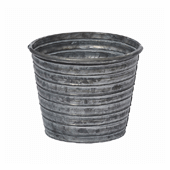 "OASIS Tin Pots - GALVANIZED - 5-1/2"" - 12/Case"