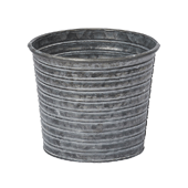 OASIS Tin Pots - GALVANIZED - 6-1/2