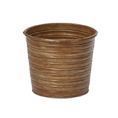 "OASIS Tin Pots - RUST - 4-1/2"" - 12/Case"