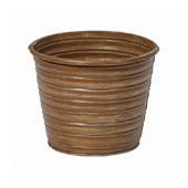 "OASIS Tin Pots - RUST - 5-1/2"" - 12/Case"