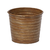 "OASIS Tin Pots - RUST - 6-1/2"" - 9/Case"