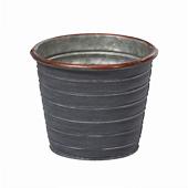 OASIS Tin Pots - SLATE - 4-1/2