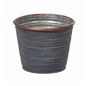 OASIS Tin Pots - SLATE - 5-1/2