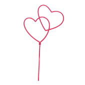 "Open Heart OASIS Floral Picks - 3"" Double Open Heart - 12/Pack"