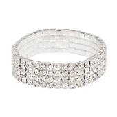 OASIS Rhinestone Wristlets - Crystal - 1/Pack