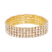 OASIS Rhinestone Wristlets - Gold - 1/Pack