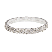 OASIS Rhinestone Wristlets - Narrow-Crystal - 1/Pack