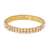 OASIS Rhinestone Wristlets - Narrow-Gold- 1/Pack