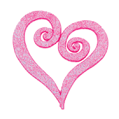 "Swirl Heart OASIS Floral Picks - 2 1/2"" Glittered Pink - 12/Pack"