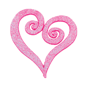 "Swirl Heart OASIS Floral Picks - 4"" Glittered Pink - 12/Pack"