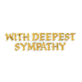 Sympathy OASIS Floral Picks - With Deepest Sympathy - 12/Pack