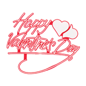 Valentine's Day OASIS Floral Picks and Cardholders - 3 1/2 Happy Valentines Day - 12/Pack