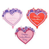 Valentine's Day OASIS Floral Picks and Cardholders - 3 1/2 Valentine's Day with Flowers - 12/Pack