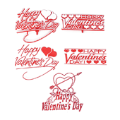 Valentine's Day OASIS Floral Picks and Cardholders - Valentine's Day Assortment - 24/Pack