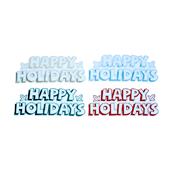Winter Holiday OASIS Floral Picks - Happy Holidays - 12/Pack