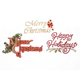 Winter Holiday OASIS Floral Picks - Merry Christmas and Happy Holidays - 24/Pack