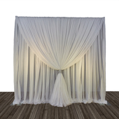 Economy 1 Panel Tone on Tone Curtain Backdrop 8ft Tall or 8ft-10ft Tall