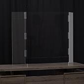 U Shape Barrier Shield - Portable Clear Acrylic - 35