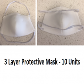 Fabric Covid-19 Prevention 3 Layer Safety Masks - 10pcs