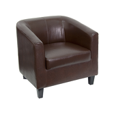 UltraLounge™ Leather Office Guest Chair - Brown