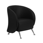 UltraLounge™ Leather Reception Chair - Black
