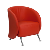 UltraLounge™ Leather Reception Chair - Red