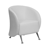 UltraLounge™ Leather Reception Chair - White