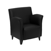 UltraLounge™ Conventional Leather Reception Chair - Black